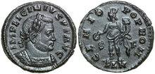 LICINIUS-I-308-324-AD.-Æ-Follis-3.65g.-RIC-86-Extremely-Fine-Vorzüglich