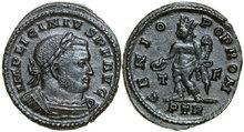 LICINIUS-I-308-324-AD.-Æ-Follis-4.39g.-RIC-845b-Extremely-Fine-Vorzüglich