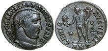 MAXIMINUS-II-DAIA-305-313-AD.-Æ-Follis-4.75g.-RIC-164b-Extremely-Fine-Vorzüglich