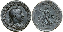 GORDIANUS-III-238-244-AD.-Æ-Sestertius-17.21g.-RIC-319a-Near-Extremely-Fine-Fast-Vorzüglich