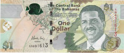 BAHAMAS P.71a - 1 Dollar 2015 UNC