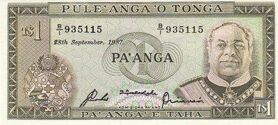 TONGA P.19c - 1 Pa'anga 1987 UNC
