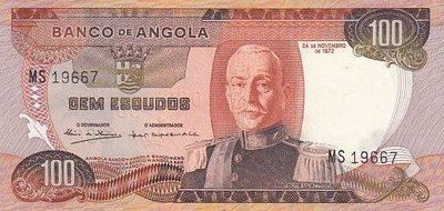 ANGOLA P.101 - 100 Escudos 1972 AU