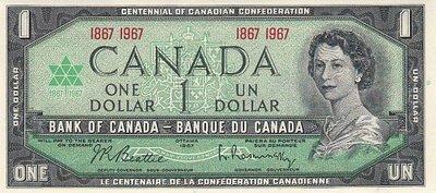 CANADA P.84a - 1 Dollar 1967 UNC