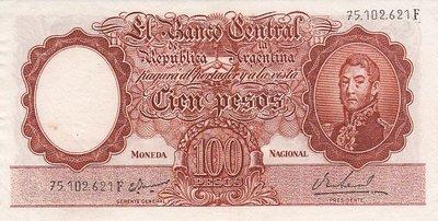 ARGENTINA P.277 - 100 Pesos ND1967-69 XF