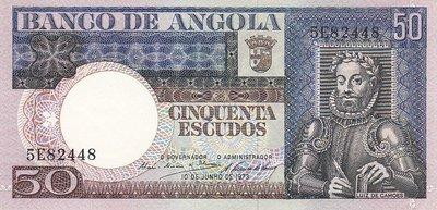 ANGOLA P.105a - 50 Escudos 1973 UNC
