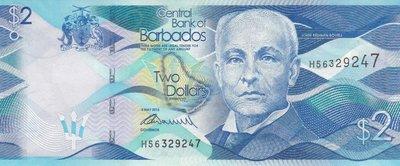 BARBADOS P.73 - 2 Dollars 2013 UNC