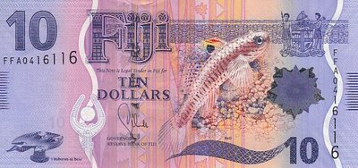 FIJI P.116 - 10 Dollars ND 2013 UNC