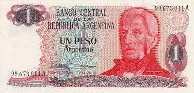 ARGENTINA P.311a - 1 Peso Argentino ND 1983-85 UNC