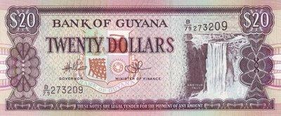 Guyana $ 20 Dollars P-30