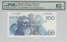 BELGIUM-P.143-500-Francs-ND1982-98-PMG-65-EPQ
