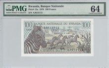 RWANDA-P.12a-100-Francs-1978-PMG-64