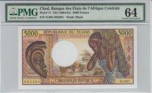 CHAD-P.11-5000-Francs-ND1984-91-PMG-64