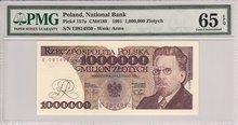POLAND-P.157a-1000.000-Zlotych-1991-PMG-65-EPQ