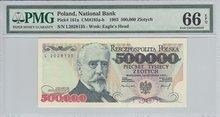 POLAND-P.161a-500.000-Zlotych-1993-PMG-66-EPQ