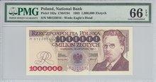 POLAND-P.162a-1000.000-Zlotych-1993-PMG-66-EPQ