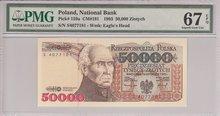 POLAND-P.159a-50.000-Zlotych-1993-PMG-67-EPQ