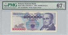 POLAND-P.160a-100.000-Zlotych-1993-PMG-67-EPQ