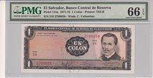 EL-SALVADOR-P.115a-1-Colon-1972-PMG-66-EPQ