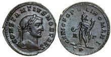 CONSTANTIUS-I-293-305-AD.-Æ-Follis-10.43g.-RIC-213a-Near-Extremely-Fine