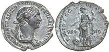 TRAJANUS-98-117-AD.--AR-Denarius-2.82g.-RIC-364-corr.-Extremely-Fine