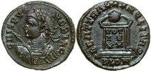 CRISPUS-317-326-AD.--Æ-Follis-3.03g.-RIC-279--Mint-State
