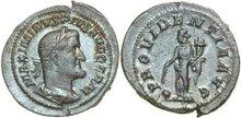 MAXIMINUS-I-THRAX-235-238-AD.--AR-Denarius-3.17g.-RIC-20-Good-Extremely-Fine