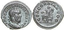 PUPIENUS-238-AD.--AR-Denarius-3.32g.-RIC-1-Extremely-Fine
