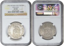 HOLLAND-Gulden-1792-NGC-AU-58