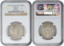 UTRECHT-Gulden-1794-NGC-AU-55