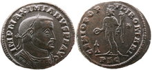 Maximianus.First-reign-AD-286-305.-Æ-Follis-28mm-10.45-g.-Lugdunum