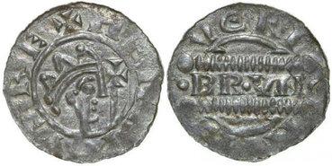 FRIESLAND-GRAAFSCHAP-Bruno-III-v.-Brunswijk-1038-1057-Denar-0.54g.-Dannenberg-502