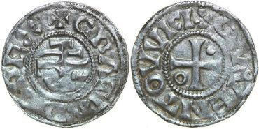 CAROLINGIANS--Charles-II-the-Bald-840-877-Denar-1.23g.-M-&-G-716