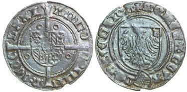DEVENTER-David-van-Bourgondië-1456-1496-Witpenning-1471-2.13g.-Lev-III-53-Near-Extremely-Fine